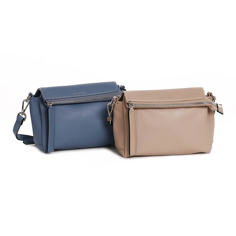 Factory Price Women Customized PU Smooth Leather Flap Crossbody Shoulder Bags Ladies