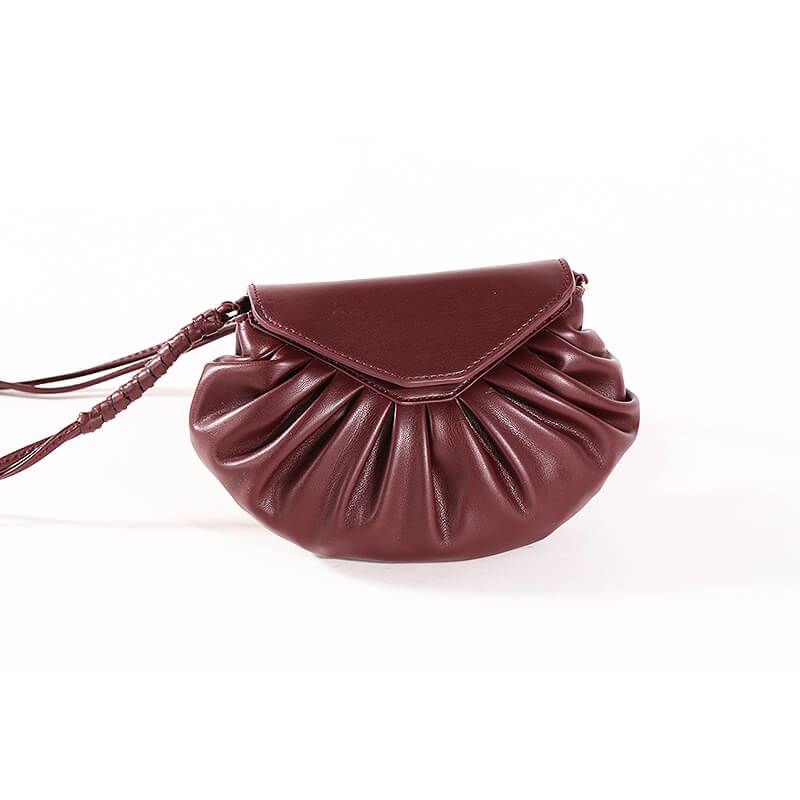 China supplier Genuine Leather Handbags Designer Cloud Clutch Bags Women Crossbody Bag