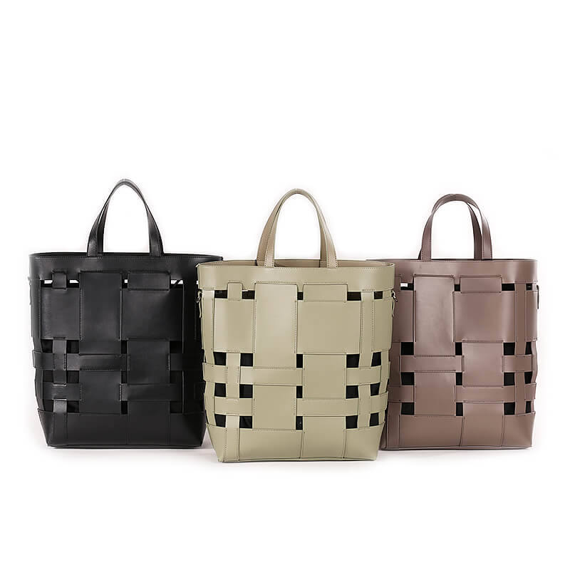 Factory direct supplier fashion women Hollow out tote handbag