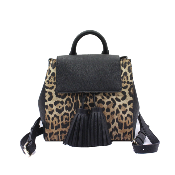 Leopard PU fashion casual backpack-YZ620274