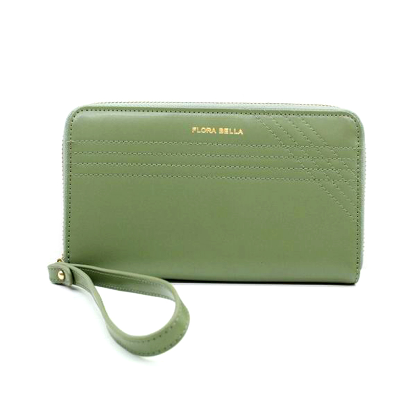 Professional Bag Manufacturer Ladies Long PU Wallet with Zipper Closure-YZ920082