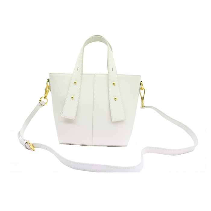 White color elegant luxury handbag ladies shoulder bag-YZ920342A