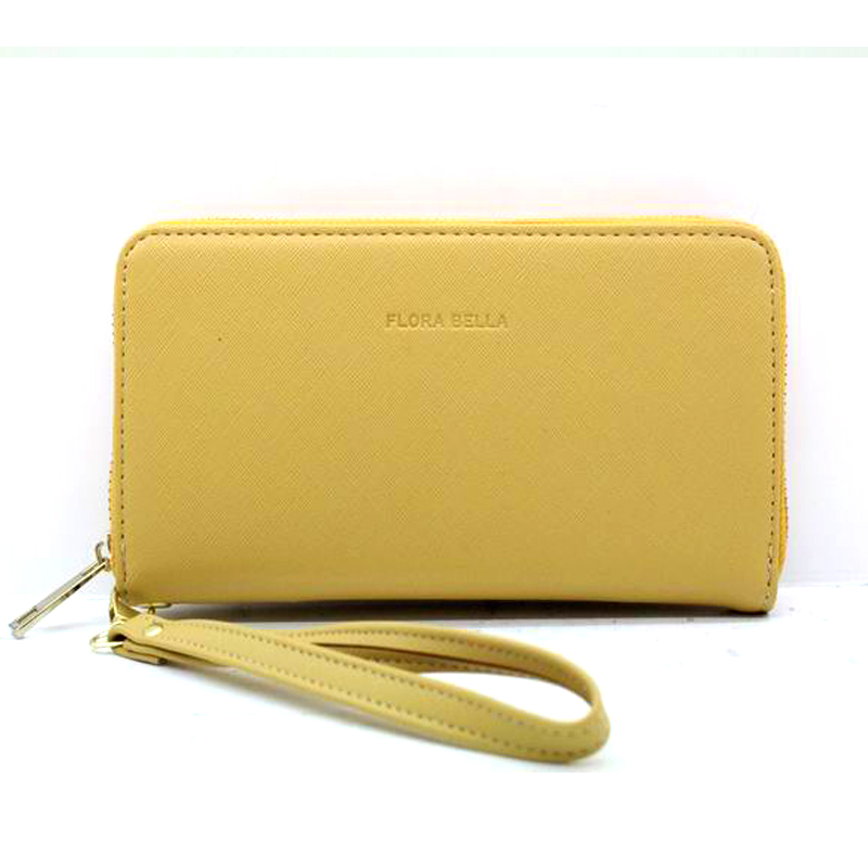 Chinese Manufacturer PU Long Classic Wallet with Zipper Closure and Handle-YZ920470F