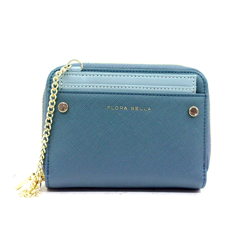 Factory Hot Sales Short Wallet with Mental Zipper Closure and Front Pocket-YZ920551