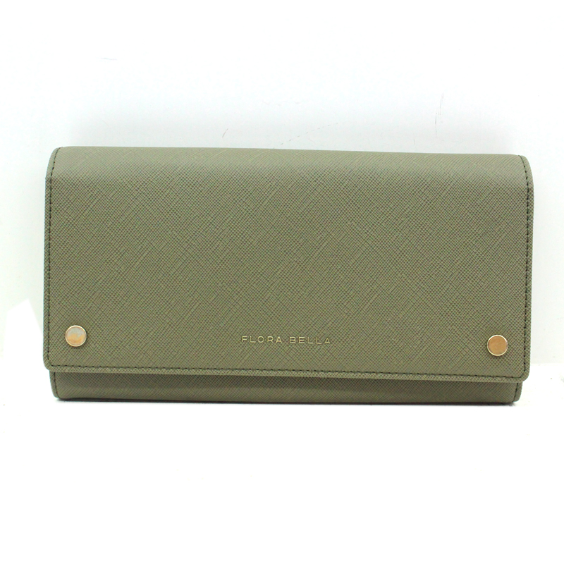 Chinese Supplier PU Saffiano Pattern Long Ladies Wallet with Two Magnets as Decoration-YZ920643