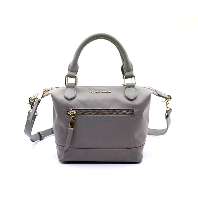 Nylon Material Ladies Handle Shopper Bag with PU Handle-YZ930238
