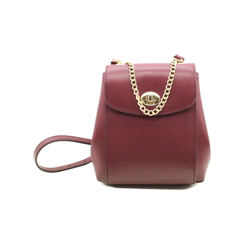 High Quality PU Material Ladies Fashion Backpack with Chain-YZ990012